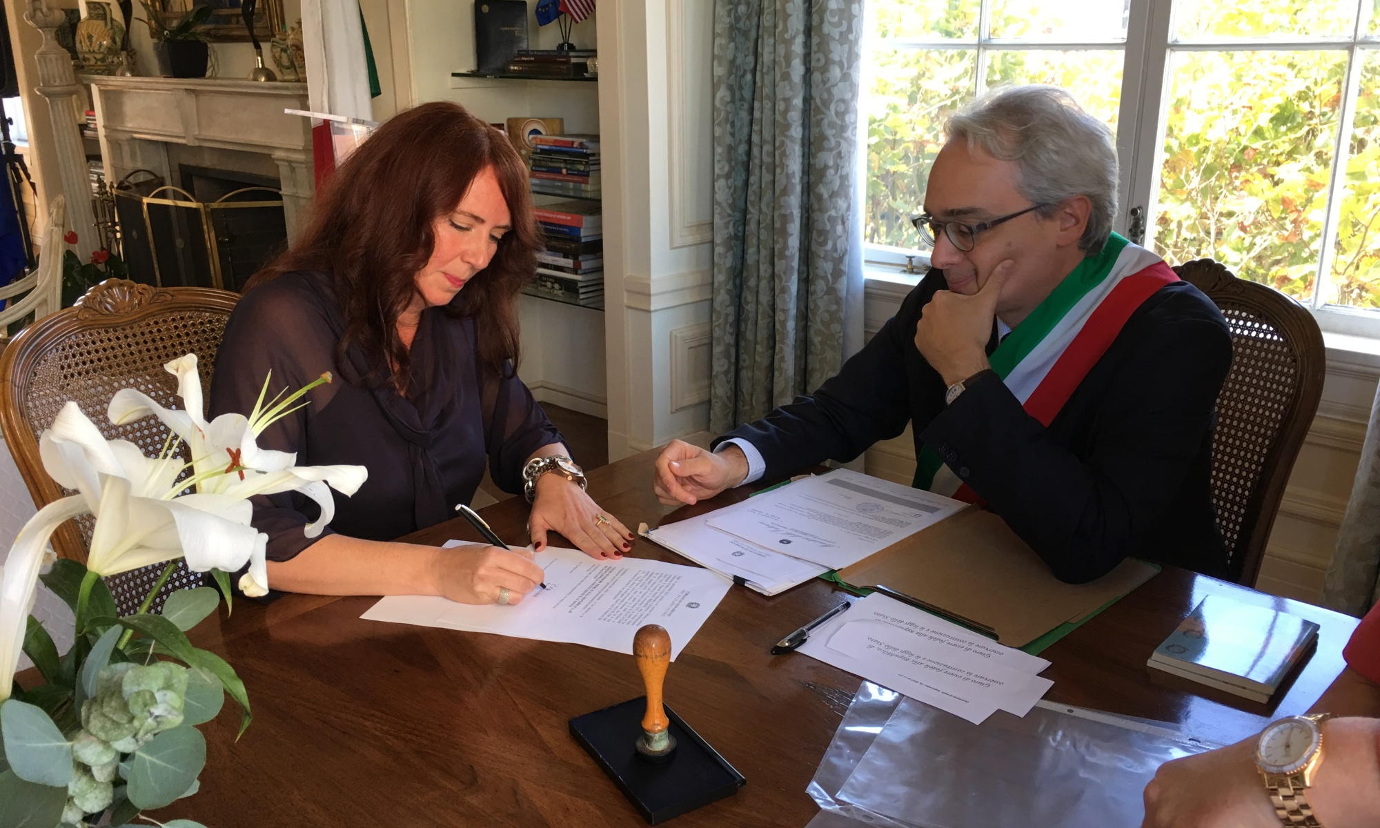 Brandy Shearer Italian Citizenship Ceremony