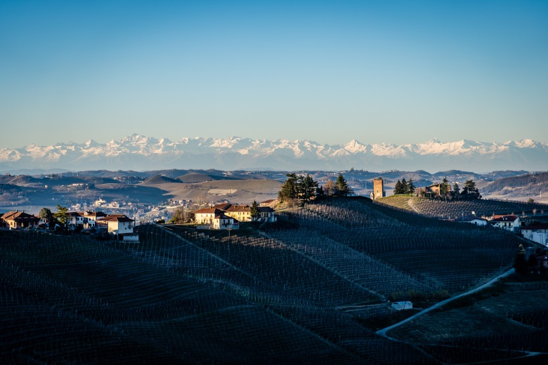View from Sottimano Winery in Piedmont, Italy