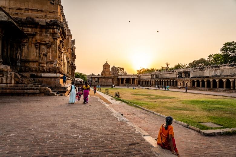 India Brihadisvara Temple Night Puga