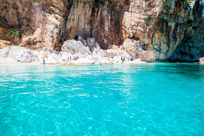 Best beached Sardinia Cala Goloritzé Beach Gulf of Orosei