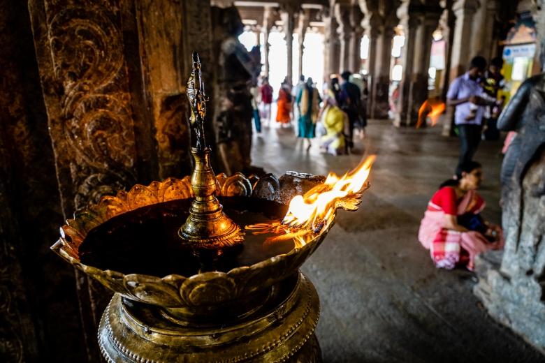 Temple Ritual Fires in Sri Ranganathaswamy