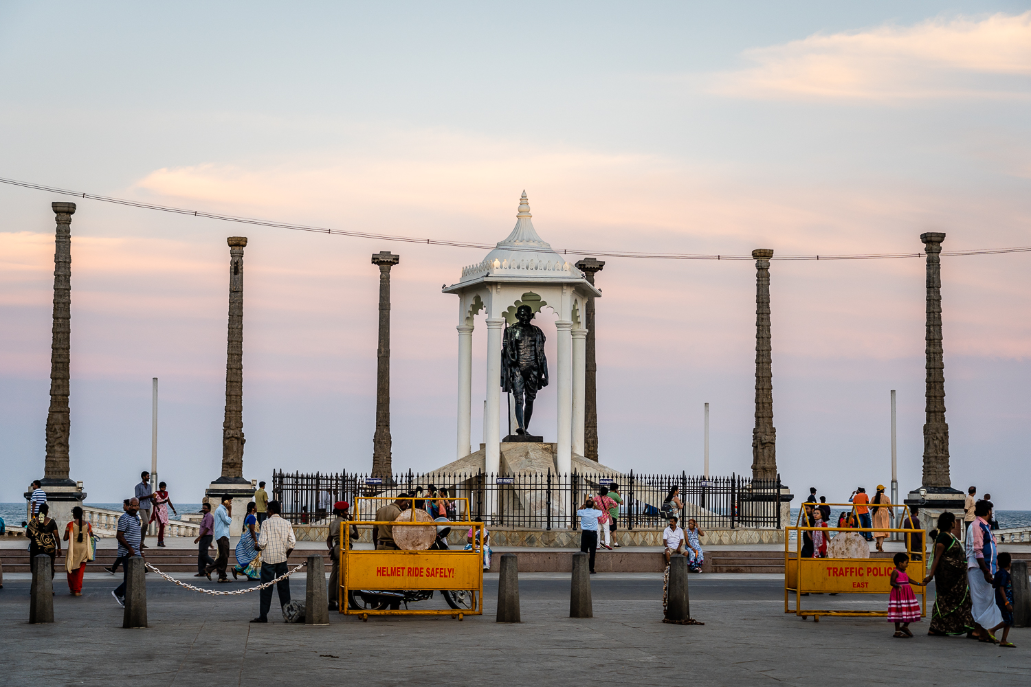 Travel India Punducherry Mahatma Gandhi Statue