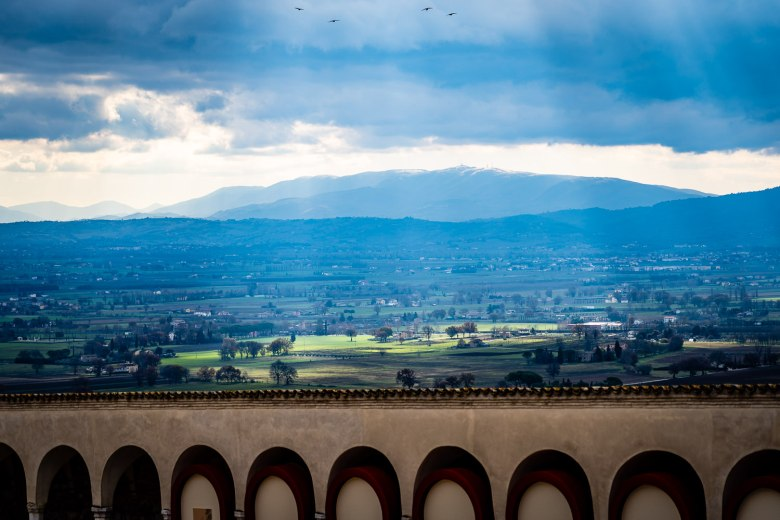 Umbria Countryside as Viewed from Assisi, Italy