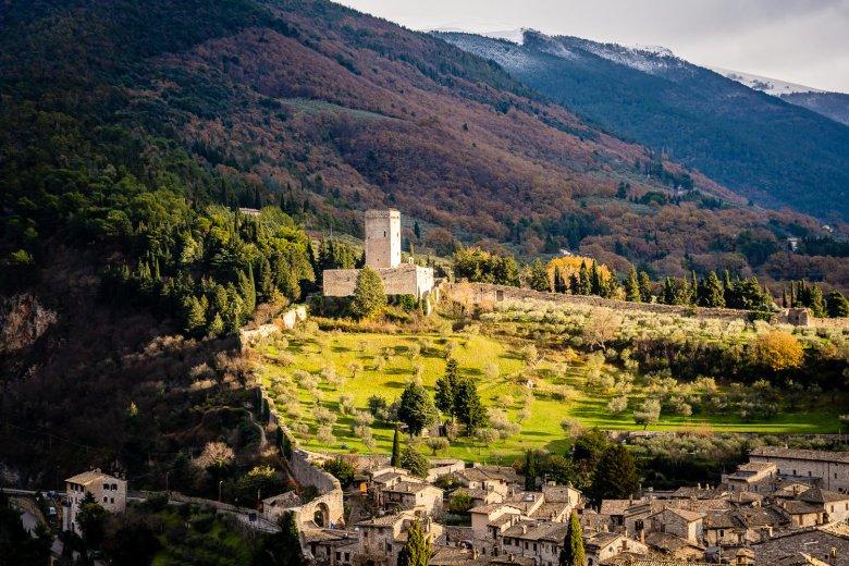 Rocca Maggiore Castle Tower Assisi Italy.