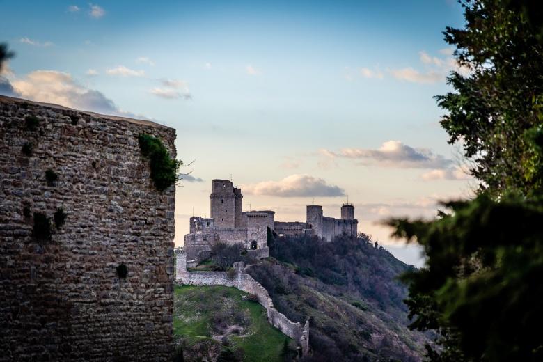 Rocca Maggiore Castle Assisi Italy