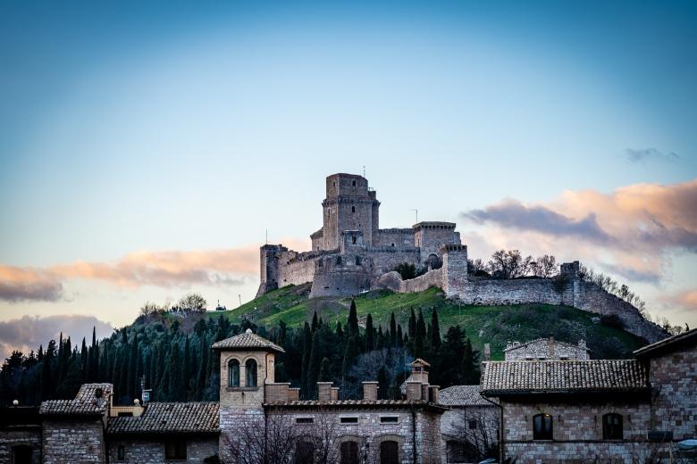Assisi Italy Photos Rocca Maggiore Castle