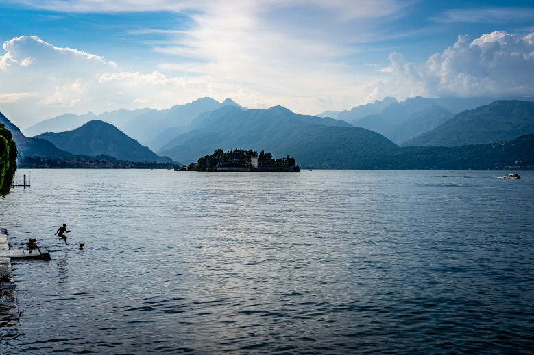 Swimming in Lago Maggiore, Italy