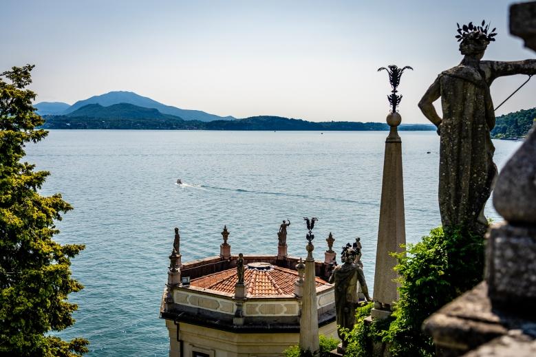 View from Isola Bella Garden Lago Maggiore