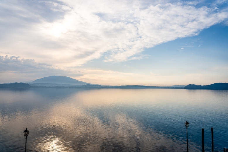 Sunrise View from Villa Carlotta Hotel in Lake Maggiore, Italy