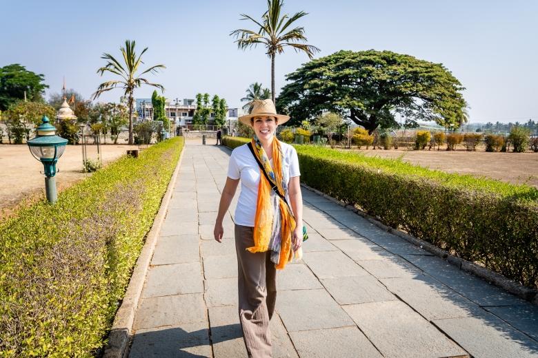 Brandy Shearer in Southern India