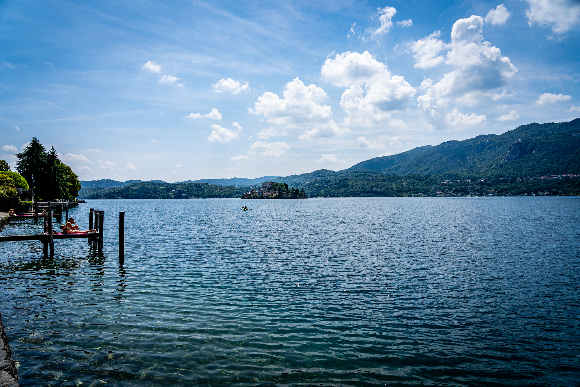 Lago d'Orta, Italy swimming
