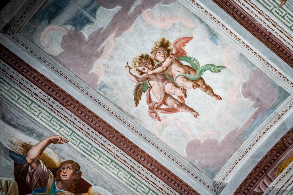 Frescos of Sacro Monte Lago d'Orta, Italy