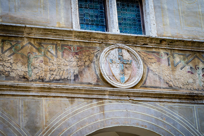 Pienza Italy Photos Coat-of-arms Piccolomini Family