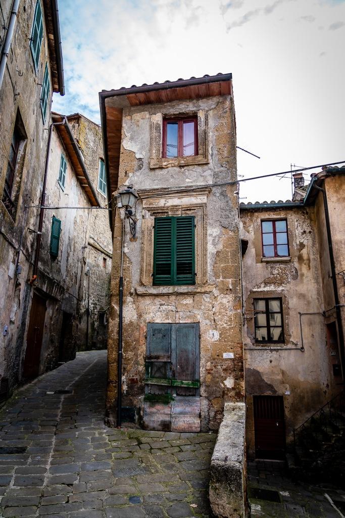 Sorano Italy Winding Streets