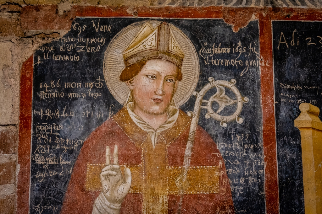 Italy Pic of the Day Basilica San Zeno Monk Graffiti