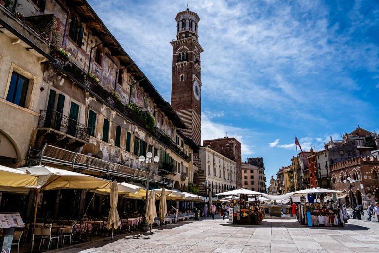Piazza delle Erbe Market Verona, Italy
