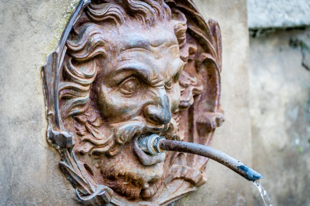 Italy Pic of the Day Pitigliano Medici Aqueduct Fountain Head