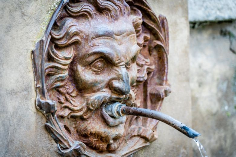 Italy Pic of the Day Pitigliano Medici Aqueduct Fountain Head