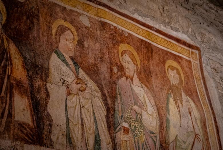 Italy Pic of the Day Last Supper Fresco at Pieve di San Giorgio di Valpolicella