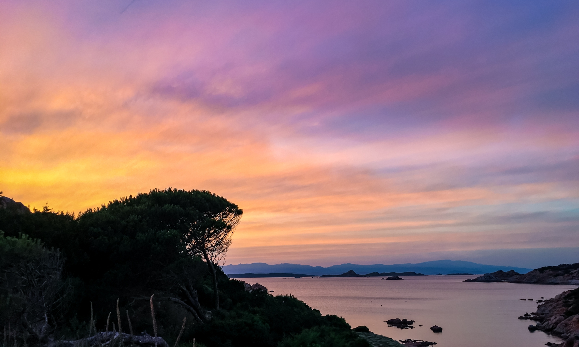 Italy Pic of the Day Sardinia Sunset Purple