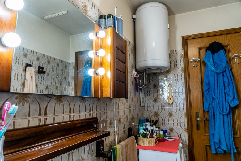 Renovating a Home in Northern Italy Bathroom Water Tank