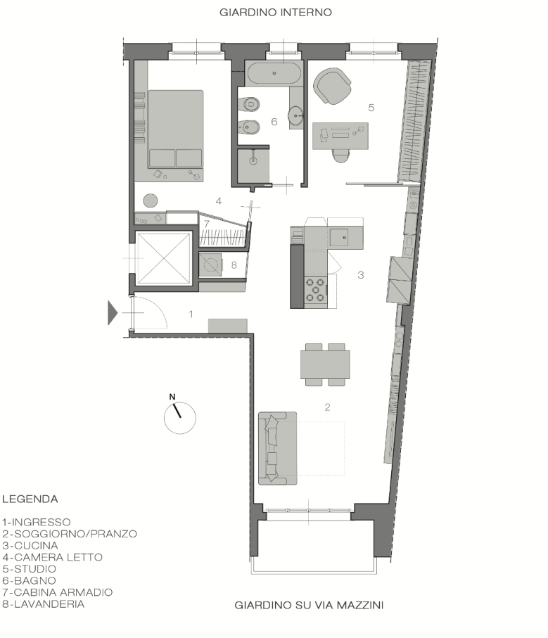 Italian Home Renovation Floor Plans Opt B Renovating Bardonecchia