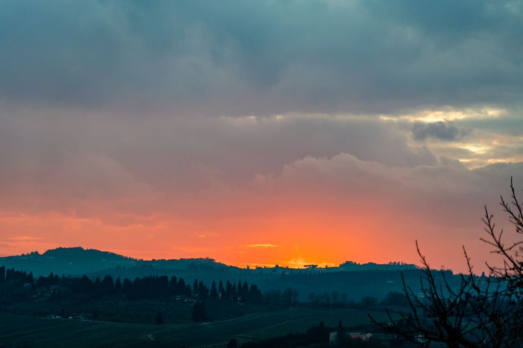 Italy Pic of the Day Sunset Over Tuscany 2
