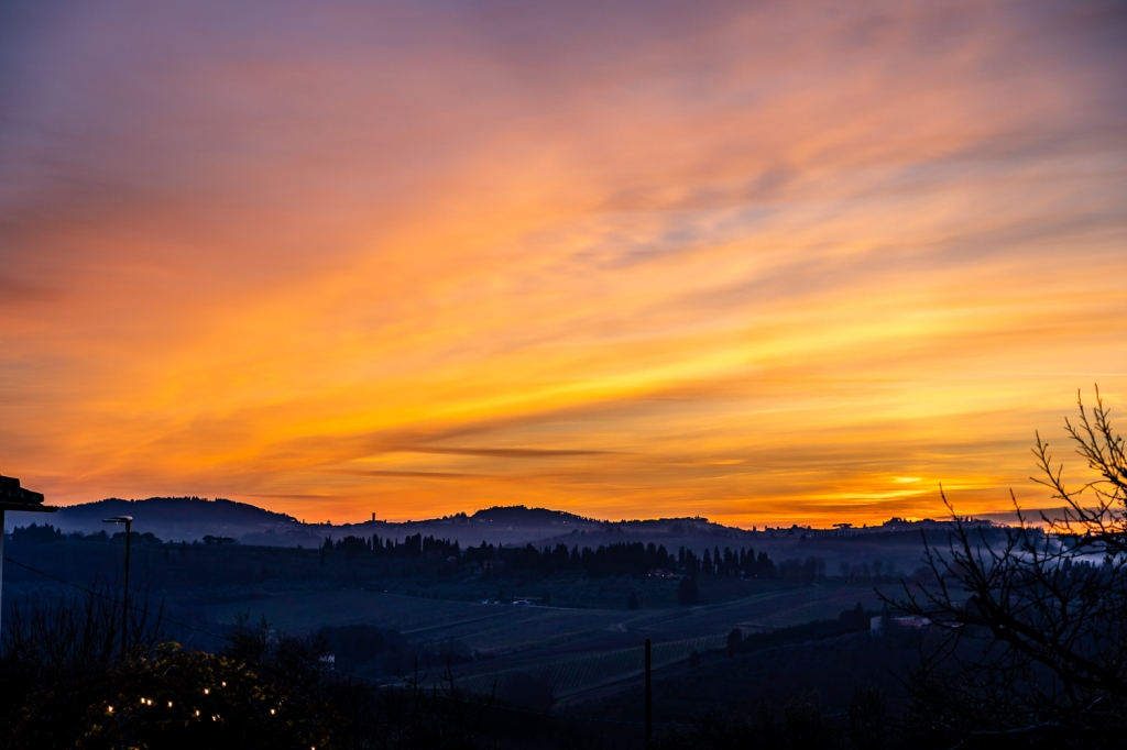 Italy Pic of the Day Sunset Over Tuscan Evening