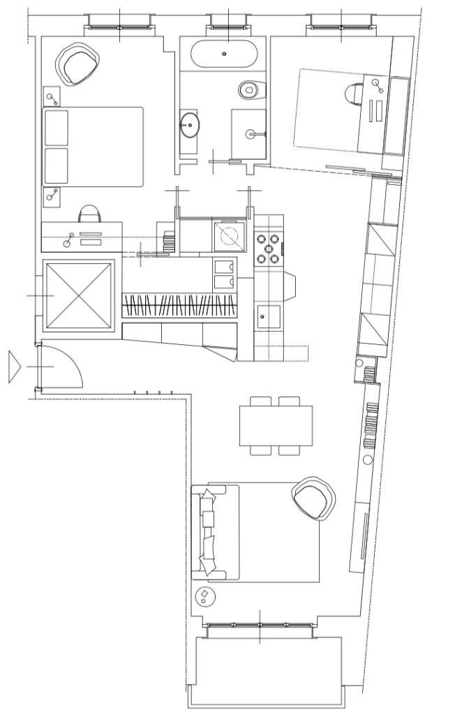 Italian Home Renovation Floor Plan