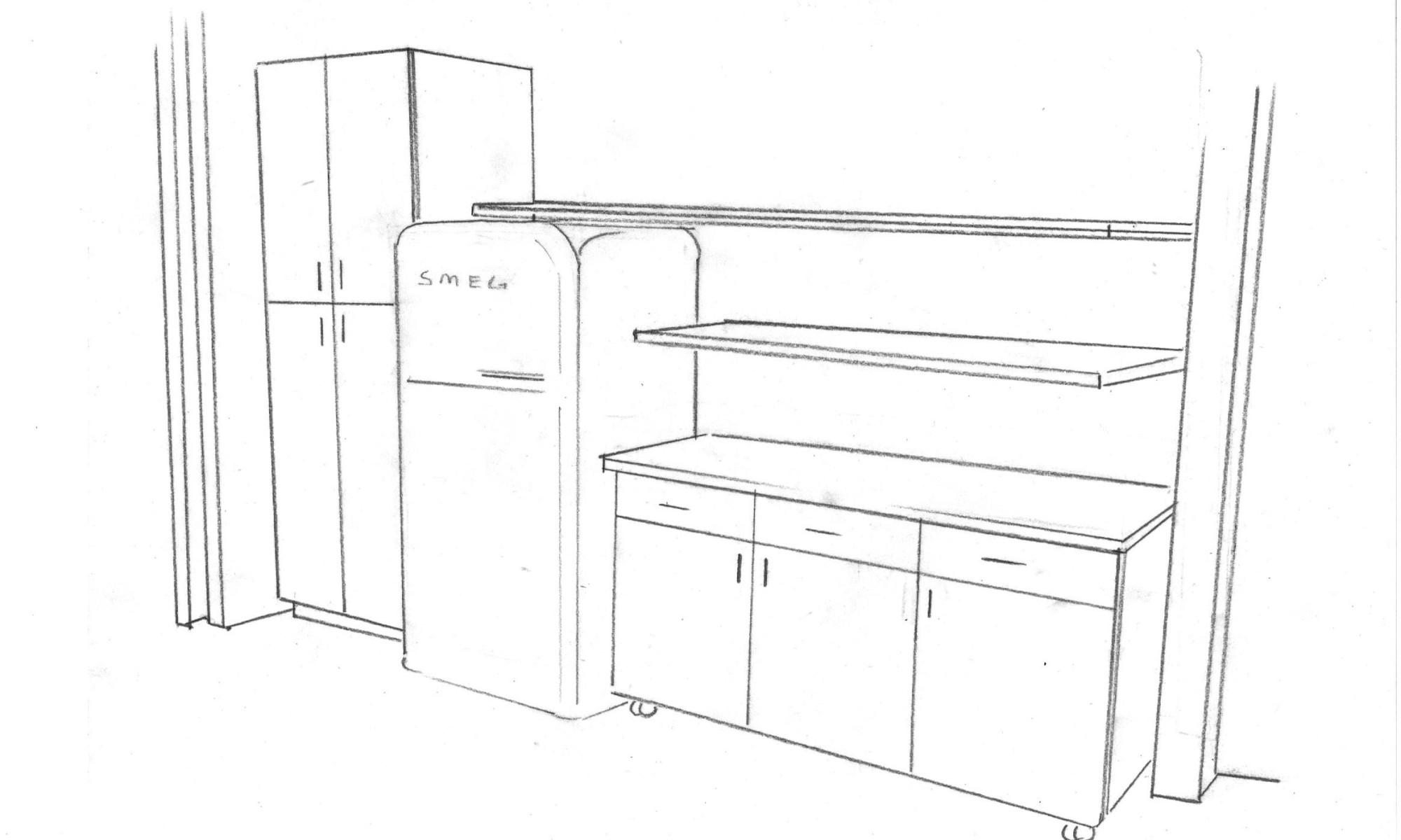 Italian Home Renovation Floor Plan Moveable Kitchen Island