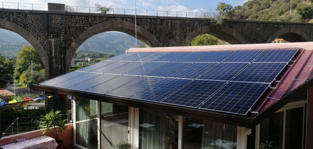 Solar Panels on Home in Sicily