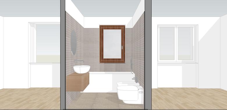 Italian Home Renovation Blog Bathroom Design 1 Sink Side View